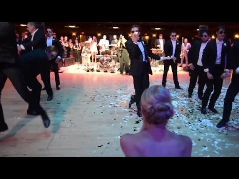 Groom's epic wedding dance goes viral