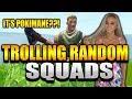 Trolling Randoms - Fake Noob Carries Squad!  *FUNNY* | Fortnite