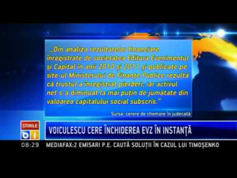 Dan Voiculescu cere in instanta inchiderea ziarului Evenimentul Zilei
