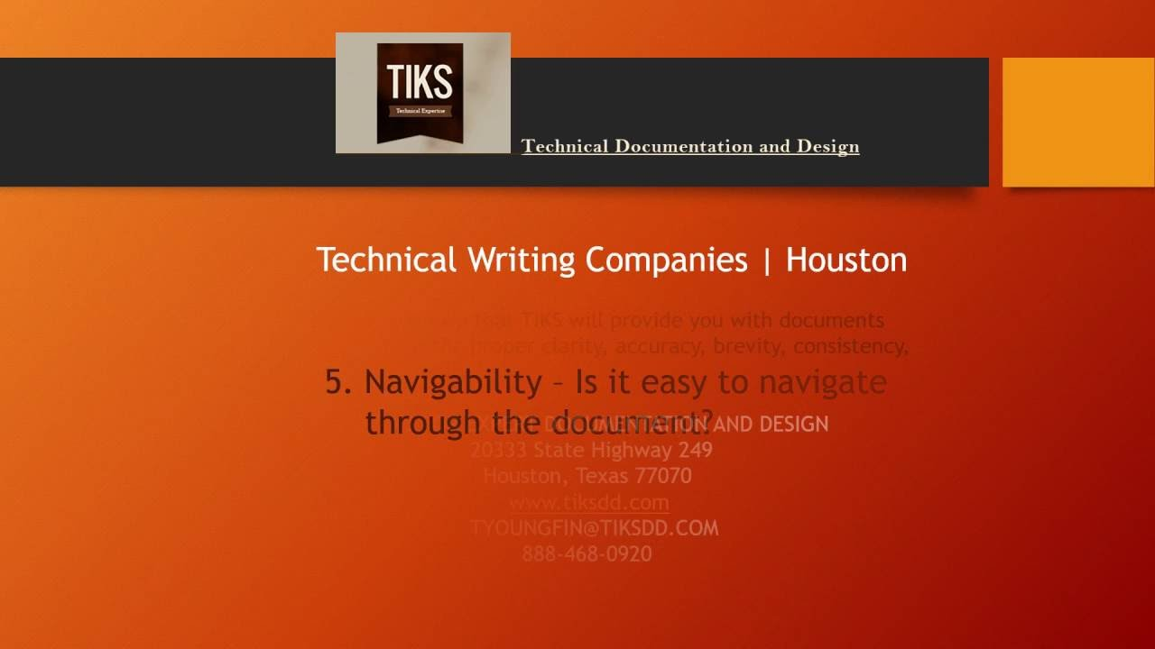 technical writing companies houston