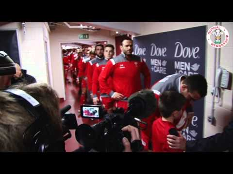 Tunnel Cam: Wales v South Africa