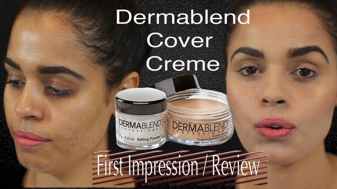 First impressions review dermablend cover creme plus for Foundation to cover tattoos