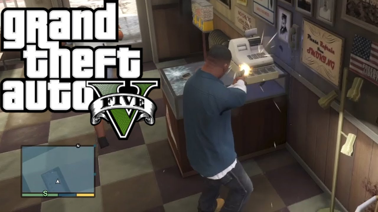 Gta 5 how to rob any store easy money youtube for How to get money to buy land