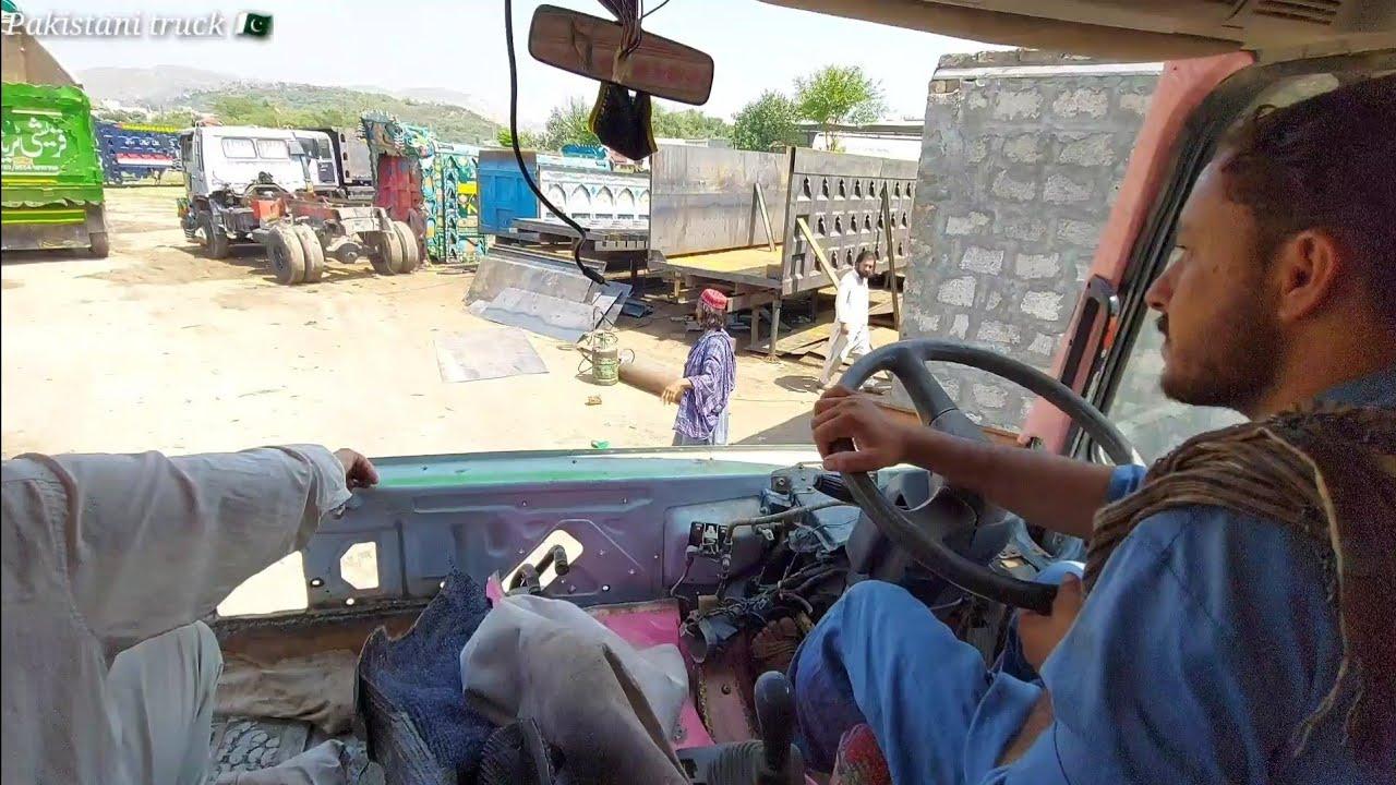 accident truck repair on road