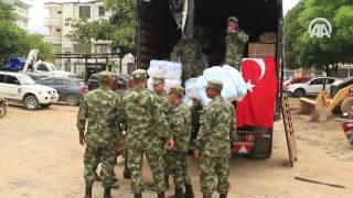 Türkiye'nin yardımları Kolombiya'daki afet bölgesine ulaştı