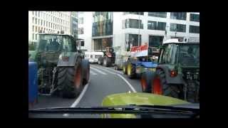 manifestation des agriculteurs europens  bruxelles le 26 27 novembre 2012