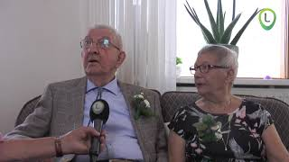 Echtpaar Van het Ende Sleijster65 jaar getrouwd