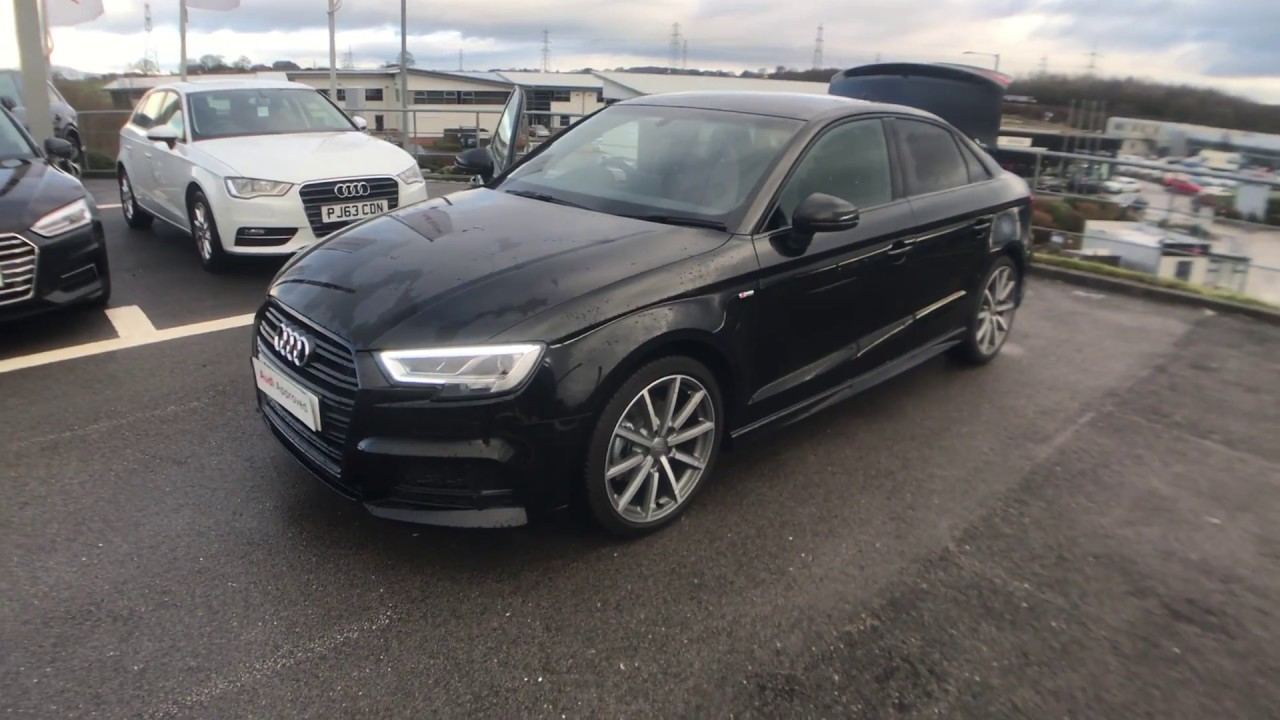 Audi A3 Saloon Black Edition 15 Tfsi 150 Ps 6 Speed For Sale At