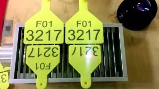 видео Бирки маркировочные пластмассовые
