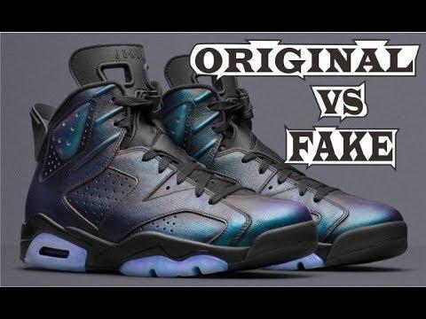 timeless design 496d1 7adce Nike Air Jordan 6 Retro All Star 'Chameleon' Original & Fake