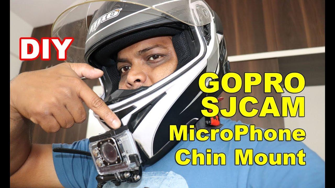 Motovlogging Camera Helmet Setup Mic - Gopro - Sjcams