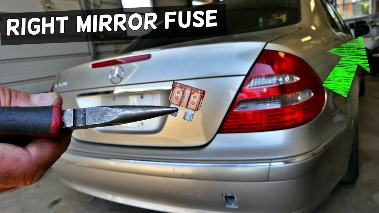 mercedes w211 right mirror fuse youtubemercedes w211 right mirror fuse