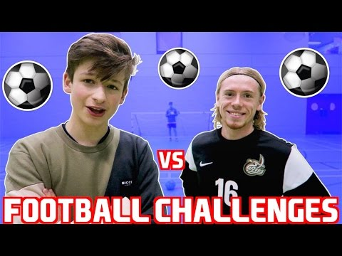 FOOTBALL CHALLENGES vs US COLLEGE SOCCER PLAYER