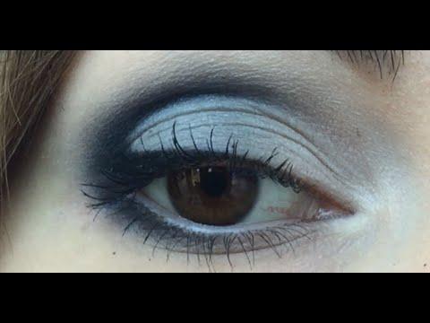 Вечерний макияж с помощью карандаша)