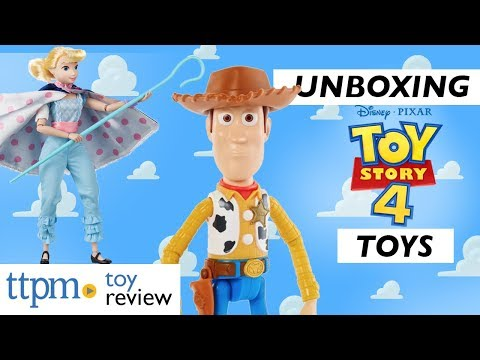 Unboxing NEW Toy Story 4 Toys From Mattel. Can They Guess Each Others Characters They've Unboxed!?