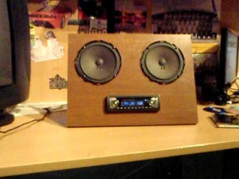 Pannello stereo con alimentatore computer youtube for Stereo casa