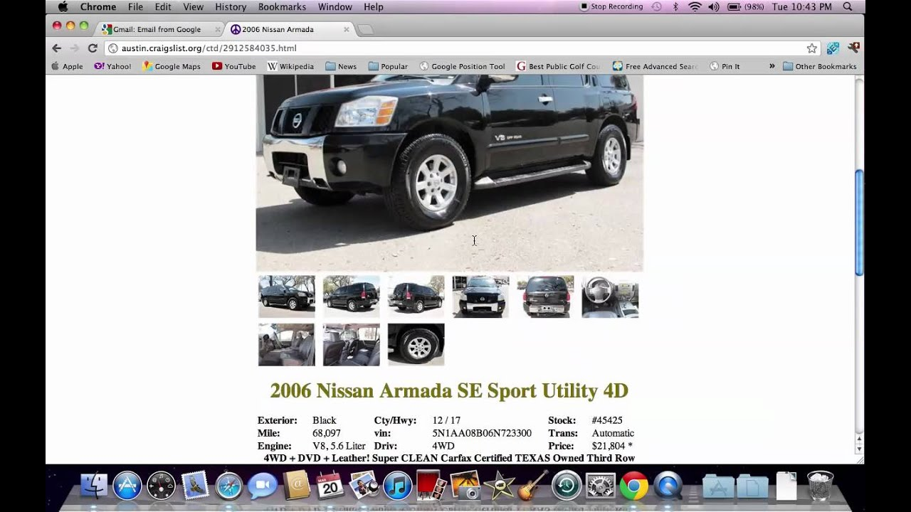 Craigslist austin tx used cars online for sale by owner options youtube