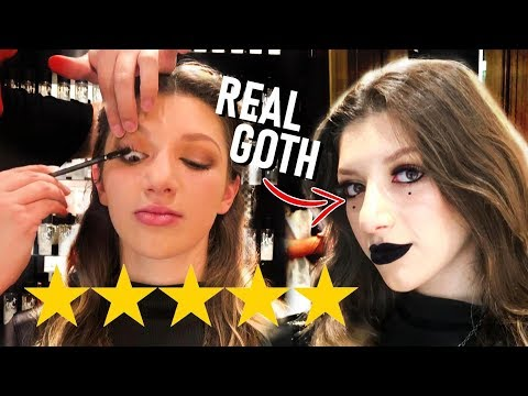 I WENT TO THE BEST REVIEWED MAKEUP ARTIST TO TURN ME GOTH 😱 thumbnail