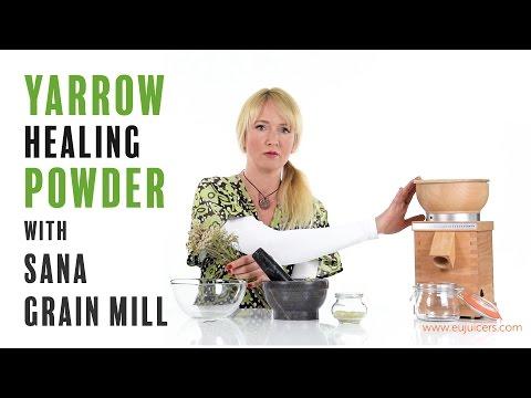 Yarrow healing powder and anti-flu tea