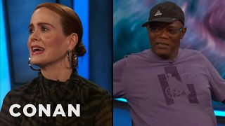 "Sarah Paulson & Samuel L. Jackson Swore Up A Storm On The Set Of ""Glass""  - CONAN on TBS"