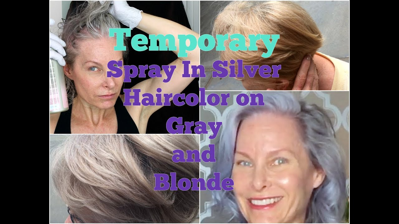 Silver Temporary Hair Color - Schwarzkopf Ice On Two Hair Colors