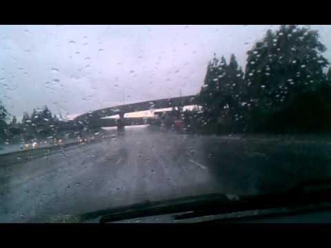 Hard rain down the 405 to van nuys