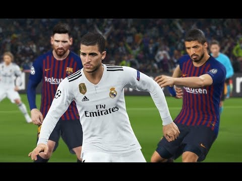 [PC] Hazard vs FC Barcelona - Gameplay Nouveaux Maillots 2019 PES 2018