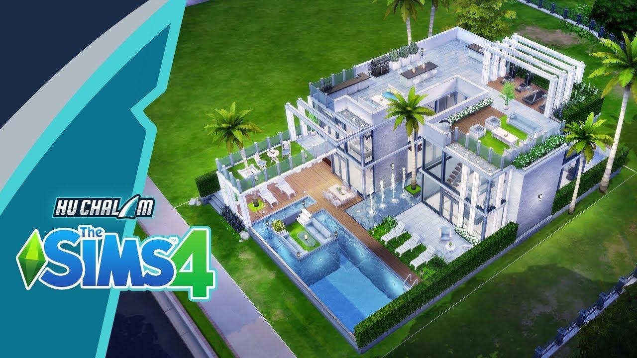The Sims 4 : สร้างบ้านตากอากาศ ความสุขแห่งการพักผ่อน [ speed build ]