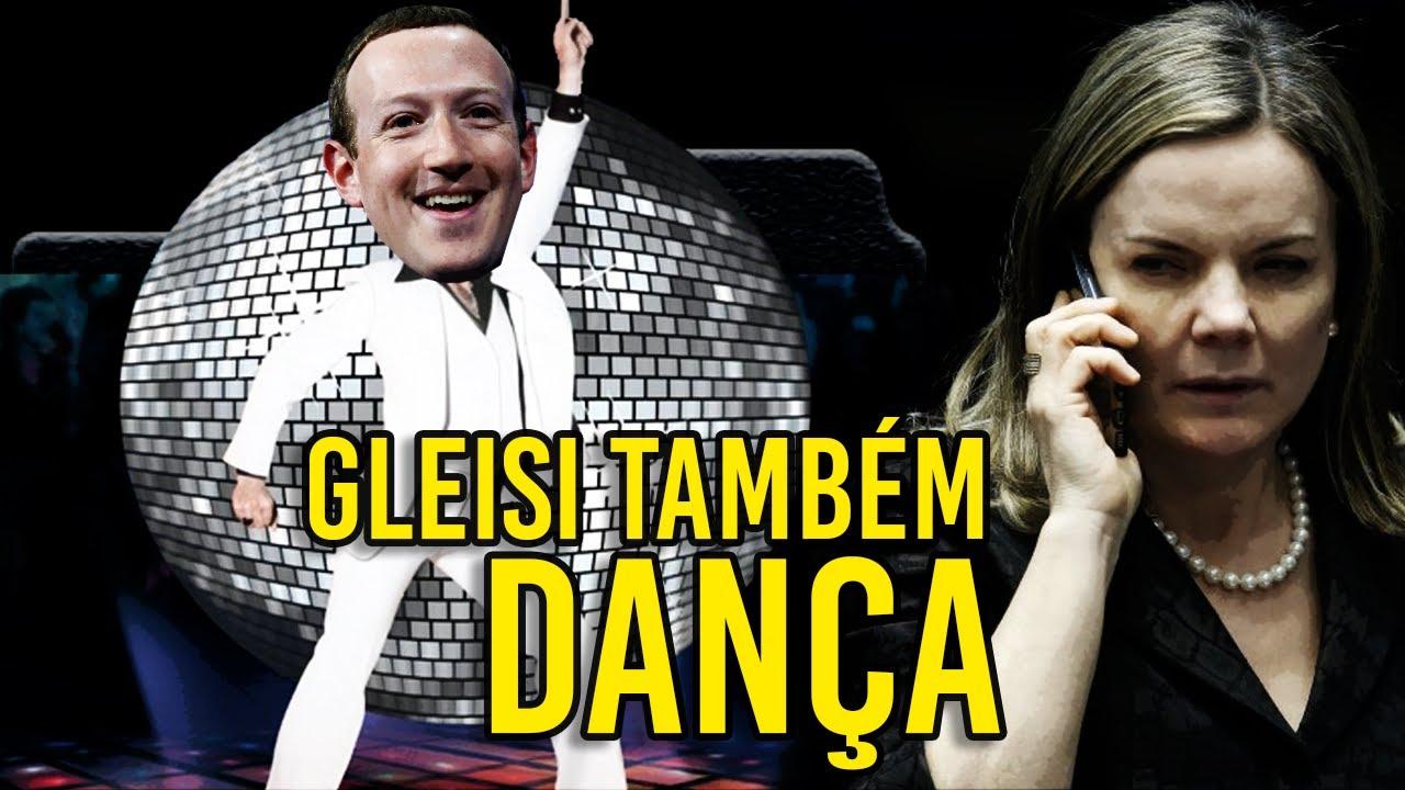 """Gleisi também """"DANÇA"""" ao SOM de Mark Zuckerberg"""