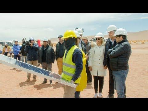 Gobernador Morales: Avances de obra de la planta Solar Cauchari