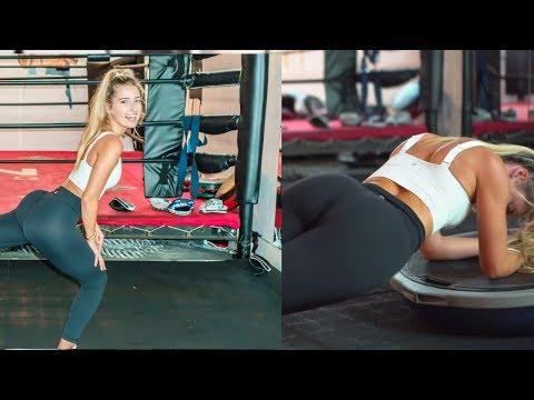 Model Workout for small waist  and round booty w Jilissa Zoltko - Stability bosu ball cardio workout