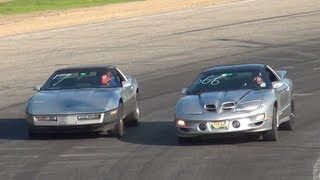 Firebird Trans Am WS6 VS Chevy Corvette C4 (Spectator Drags)