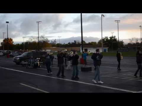 "Whitko High School Band Practicing Bruno Mars ""Marry Me"" Routine"