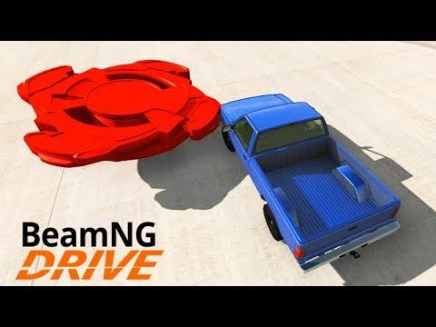 BEYBLADE vs CARROS!!! (DESTRUIÇÃO MÁXIMA) - BeamNG Drive