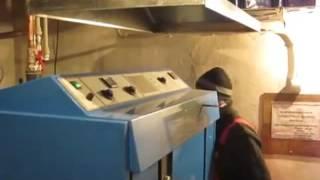 Схема обвязки, работа твердотопливного котла пиролизного горения Atmos DC100 (Атмос) видео обзор