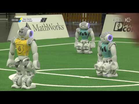 SPL: Nao Devils – Berlin United [RoboCup German Open 2017]