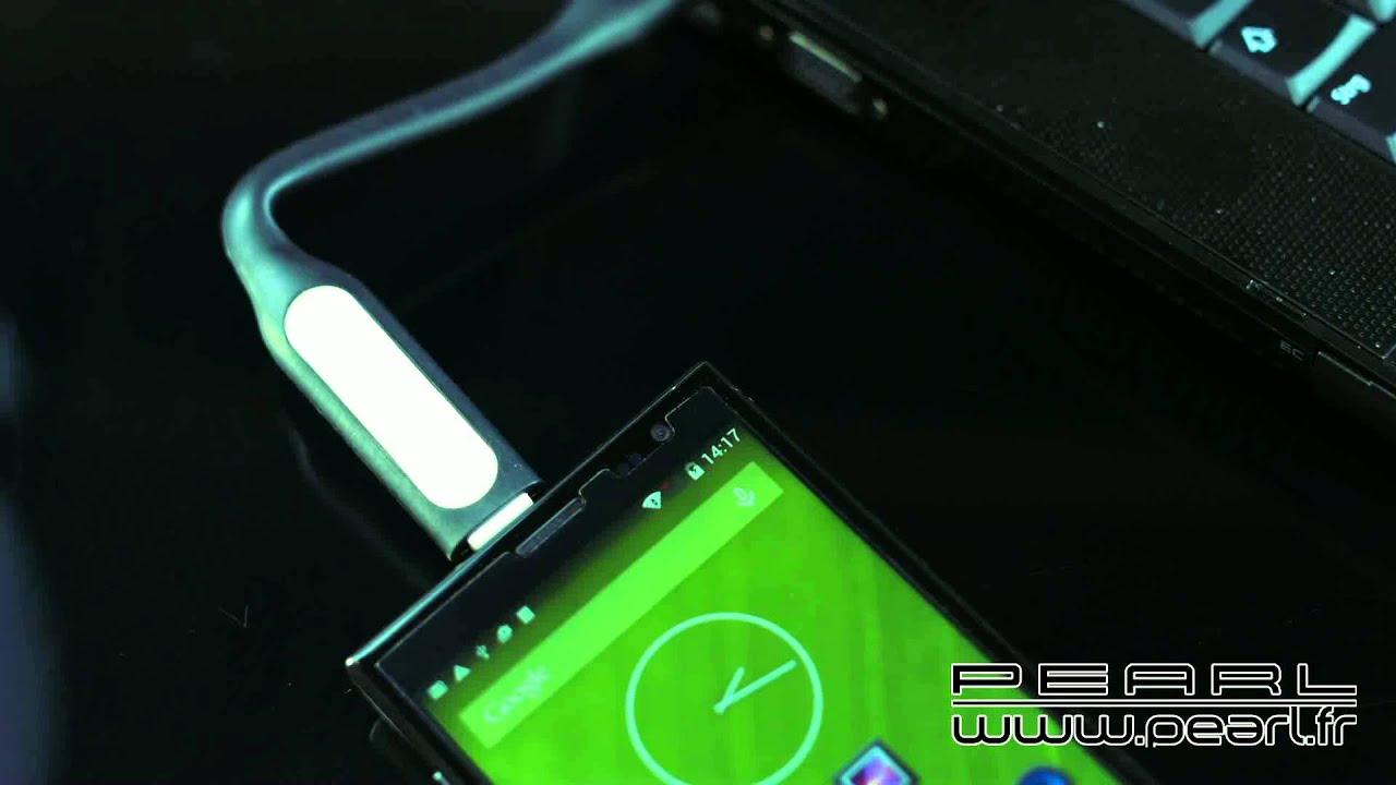 Px8467 Lampe Led Usb Flexible Pour Pc Portable Avec Chargeur