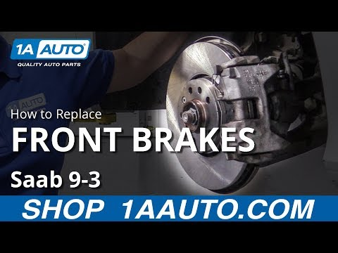 How to Replace Front Brakes 03-08 Saab 9-3