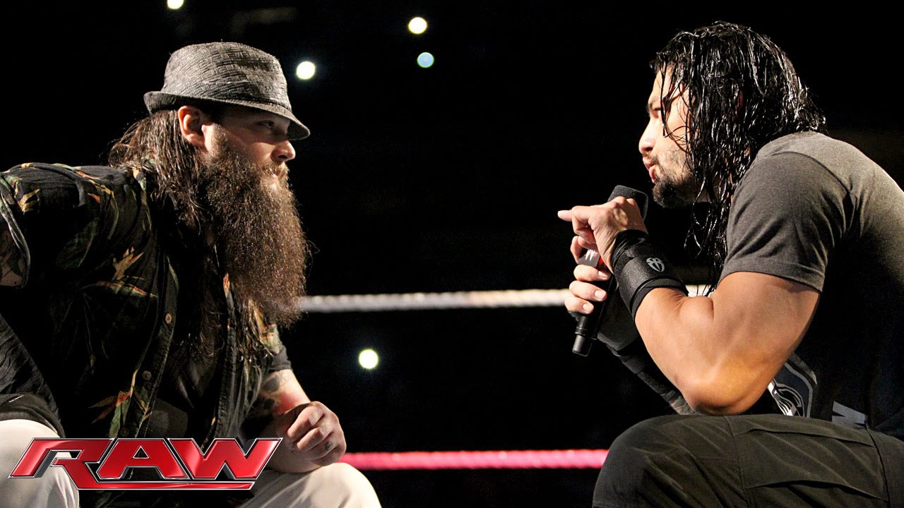 Roman Reigns and Bray Wyatt have a sit-down discussion: Raw, October 19,  2015 - YouTube