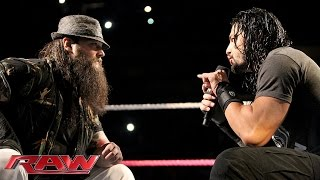 Roman Reigns and Bray Wyatt have a sit-down discussion: Raw, October 19, 2015