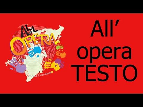 All'Opera-Tema Oratorio Estivo 2018 (testo in italiano)