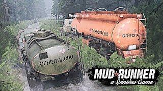 Доставка Топлива по Непроходимым Лесам - SpinTires: MudRunner