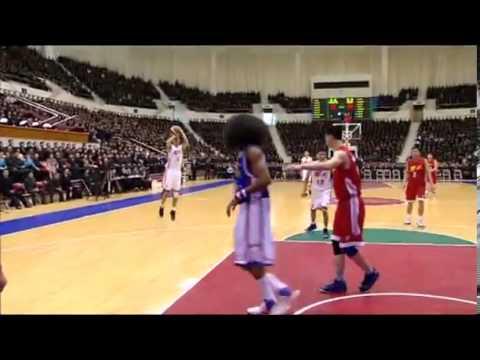 Partido de baloncesto entre Hwaebul y Harlem Globetrotters en Pyongyang