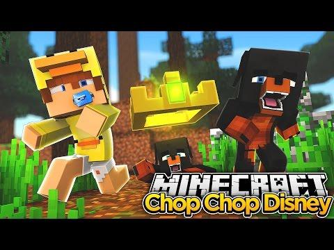 Minecraft HIDE N SEEK CHOP CHOP - DISNEY CHARACTERS GET CHOPPED - Baby Duck Adventures