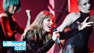 Taylor Swift Opens the 2018 AMAs With a Bang -- Performing 'I Did Something Bad' | Billboard News