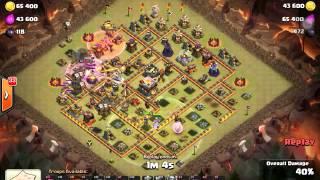 Đánh 3s nhà max def hall 11 clash of clans