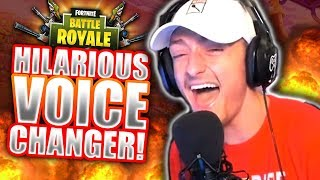 Voice Changer Trolling TRIPS OUT Fortnite Players! *HILARIOUS REACTIONS*