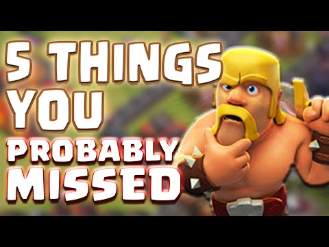 5 Things You Probably Didn't Know Or Missed About Clash of Clans