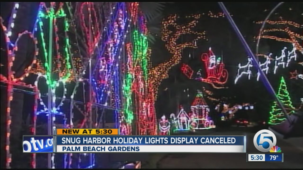 snug harbor holiday lights display canceled