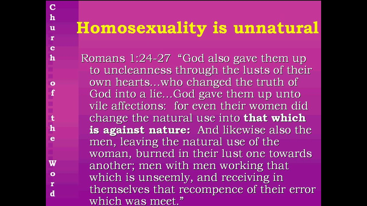 Biblical answers to homosexuality